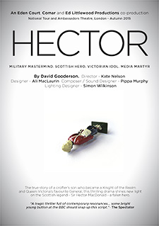 Leaflet front for national tour autumn 2015 of David's play 'Hector' (originally So Great a Crime)'