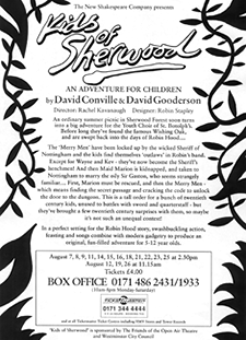 Leaflet back, play 'Kids of Sherwood'