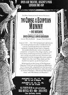Leaflet back, play for children 'The Curse of the Egyptian Mummy'