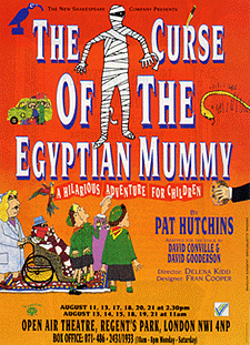 Leaflet front, play for children 'The Curse of the Egyptian Mummy'