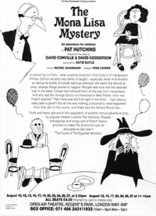 Leaflet back, play for children 'The Mona Lisa Mystery'