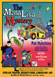 Leaflet front, play for children 'The Mona Lisa Mystery'